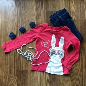 Bunny and Jeggings Outfit